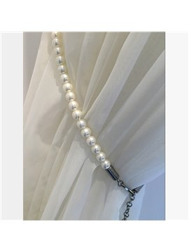 Chic White Pearls Decorative Curtain Tiebacks