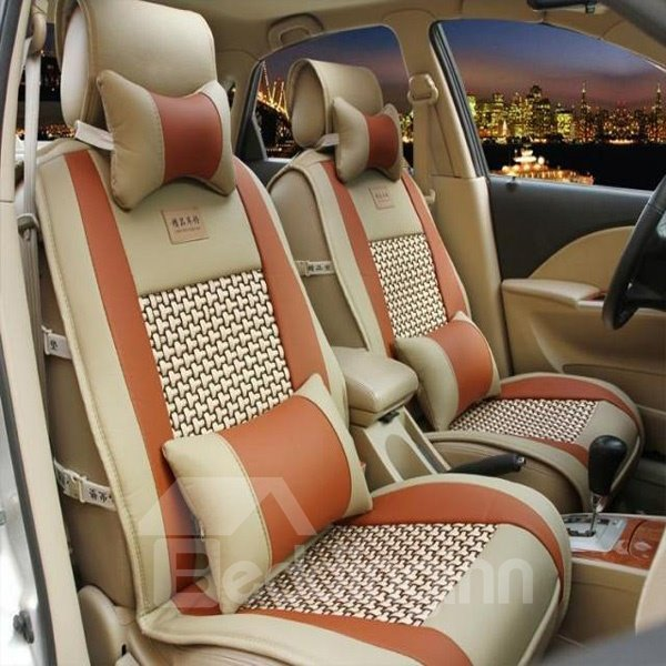 Bamboo Fiber Cooling Pattern Design Comfortable Universal Car Seat Covers