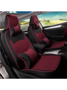 Super Luxurious And Classic Streamline Design Leather Material Universal Car Seat Cover
