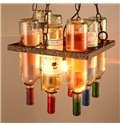 Modern Design Winebottle Shape Iron Bar Decorative Ceiling Light