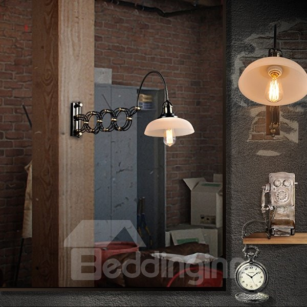 Fantastic Industrial Creative Spring Shape Wall Light