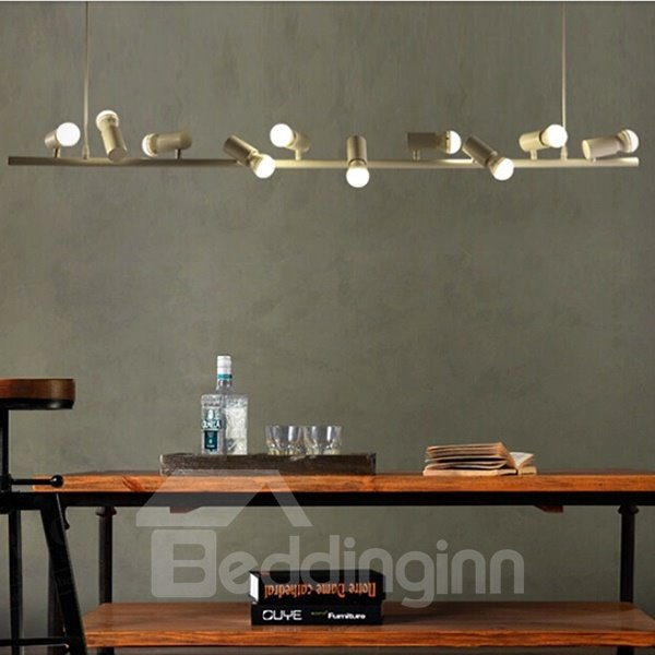 White Simple Beautiful 6 Birds Shape Bar and Coffee Shop Ceiling Light