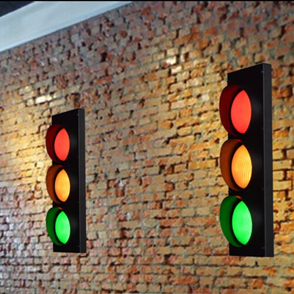 Super Creative Traffic Lights Shape 1 Piece Decorative Wall Light
