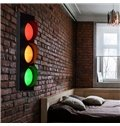 Super Creative Traffic Lights Shape 1 Piece Decorative Wall Light