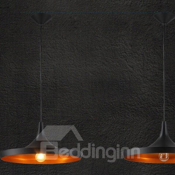 Black Creative Musical Instrument Shape Bar Ceiling Lights