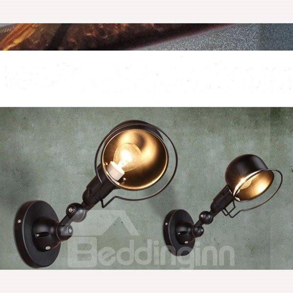 Classic Iron Industry Style 1 Piece Wall Light