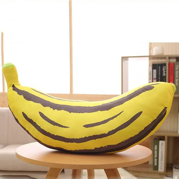 Adorable Soft Banana Design Plush Throw Pillow