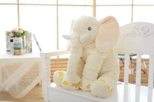 Large Long Nose Elephant Gray Soft Plush Sleep Baby Pillow