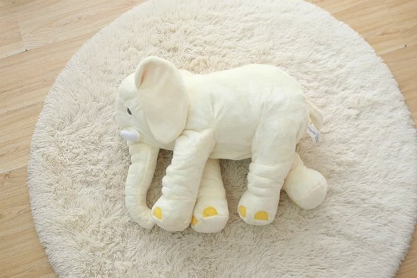 Beddinginn Large Long Nose Elephant Gray Soft Plush Sleep Baby Pillow