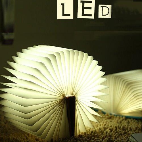 Creative USB Charging 4 Color Light LED Book Lamp