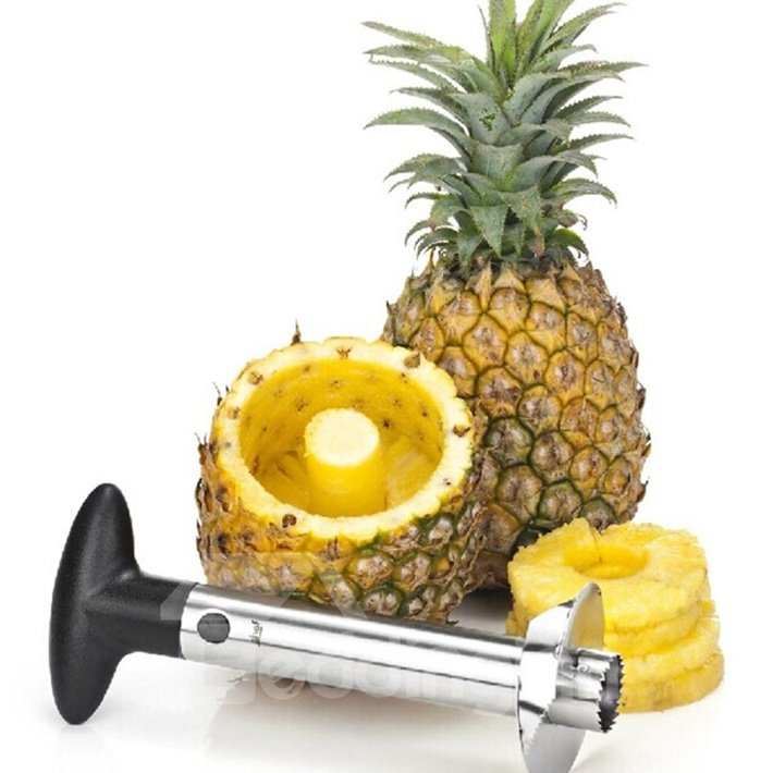 Practical Stainless Steel Ratcheting Pineapple Slicer