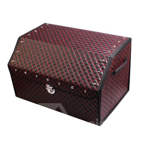 Luxury PU Leather Material And High Capacity Foldable Trunk Organizer