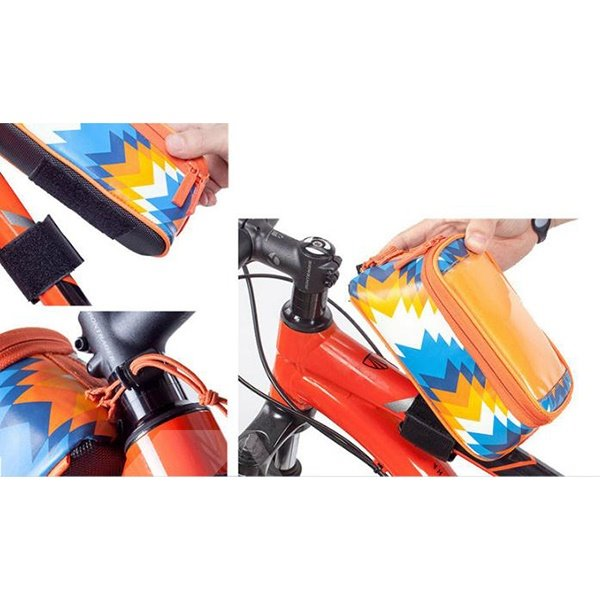 Colorful Bike Frame Bag Top Tube Handlebars Bag