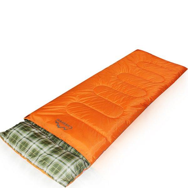 Rectangular Green Grid Outdoor Camping Hiking Traveling Sleeping Bag