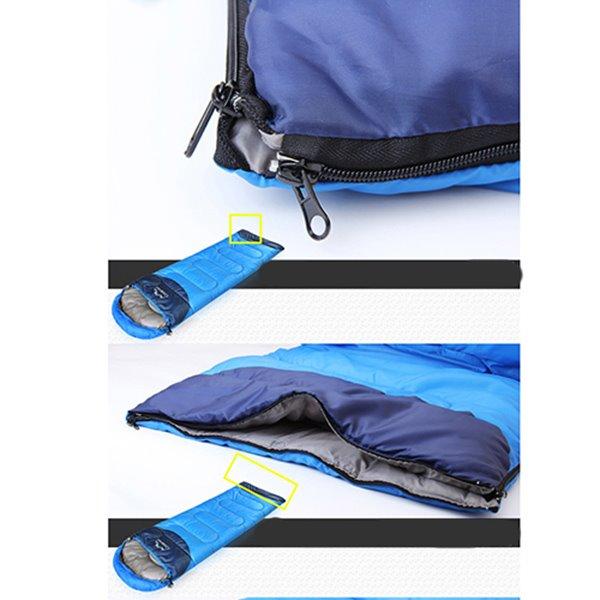 Blue Comfort Ultralight Tapered Outdoor Camping Hiking Traveling Envelope Sleeping Bag