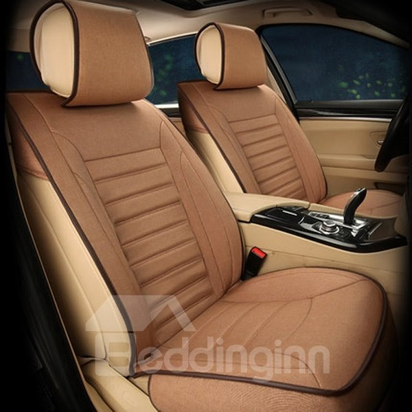 Luxurious Classic Design Breathable Easy Flax Surface Material Universal Car Seat Cover