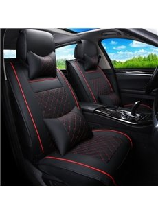 Super Comfortable Leatherette Material And Cool Design Universal Five Car Seat Cover