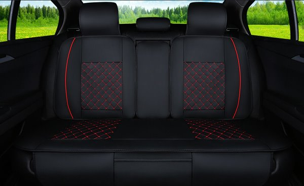 Classic Business Style Plaid with Trims Design Universal Car Seat Cover