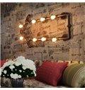 8 Bulbs Creative Arrow Water Pipe Decorative Wall Light