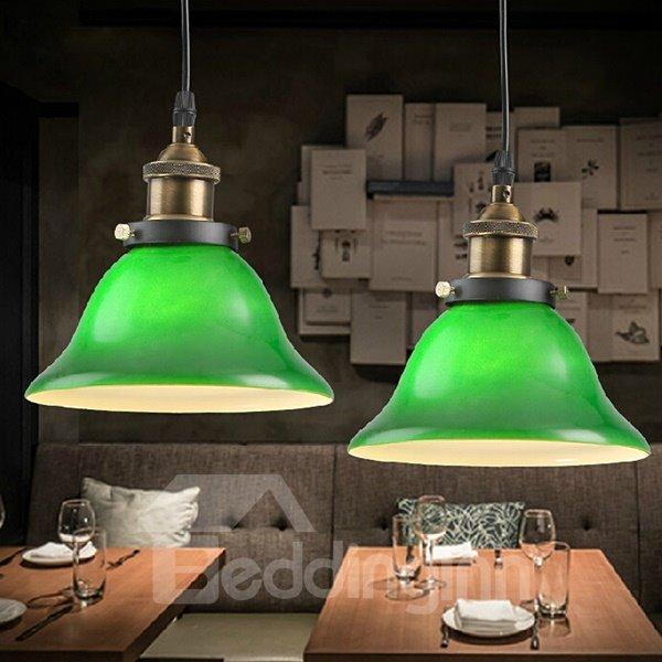 Bright Green Simple Restaurant Ceiling Light