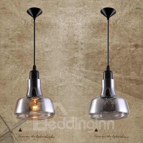 Amazing Grey Glass 4 types Countryside Style Ceiling Light