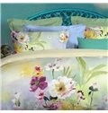 Fragrant Peony Oil Painting Tencel Fabric 4-Piece Bedding Sets