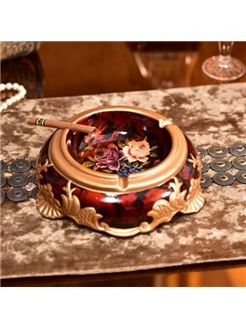 Creative Red Ceramic and Resin Ashtray Desktop Decoration