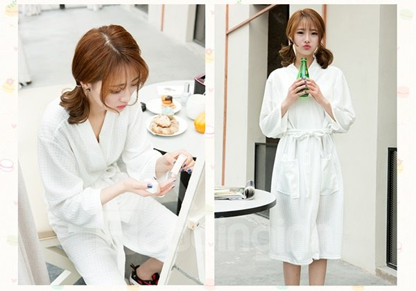 Lovely Candy Colors Soft and Comfortable Bathrobe
