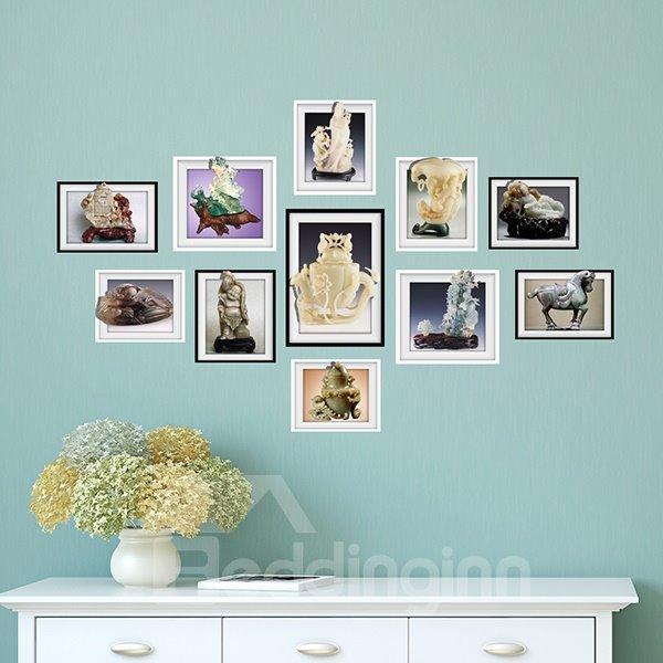 Simple Desktop Decoration Photo Frame Wall Sticker