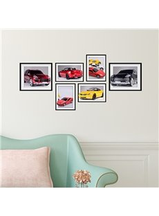 Modern Fashion 6 Types of Car Photo Frame Wall Sticker