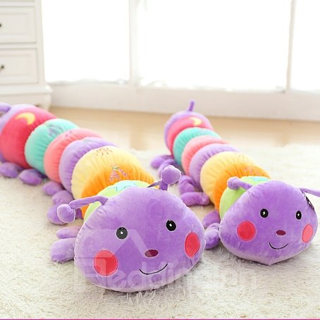 Lovely Bright Color Caterpillar PP Cotton Throw Pillow