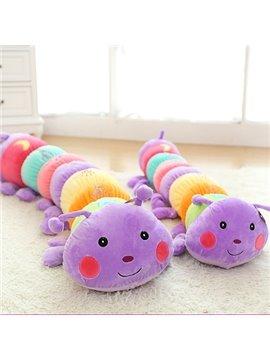 Lovely Bright Color Caterpillar PP Cotton Throw Pillow
