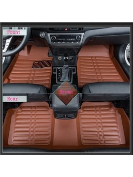Fashion Cool Anti-Skid Stability PU Leather Dedicated Car Carpet