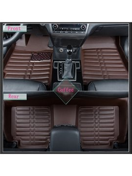 Classic Coffee Color High Cost-Effective PU Leather Dedicated Car Carpet