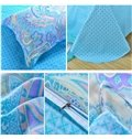 Splendid Cotton Paisley Pattern Blue 4-Piece Duvet Cover Sets