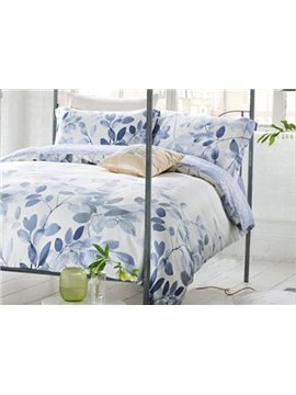 Popular Leaves Print 4-Piece Tencel Duvet Cover Sets
