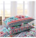 Comfortable Colorful Diamond Print Cotton Bed in a Bag