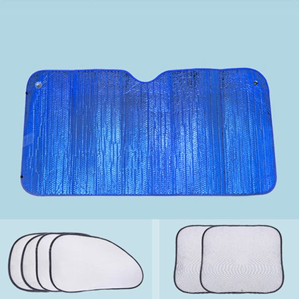 Light Blue Double Layer Sun Block Car Sun Shades
