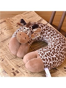 Creative Vivid Giraffe Design U-shape Plush Throw Pillow