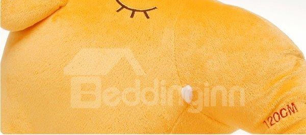 Lovely Yellow Long Nose Elephant Plush Throw Pillow