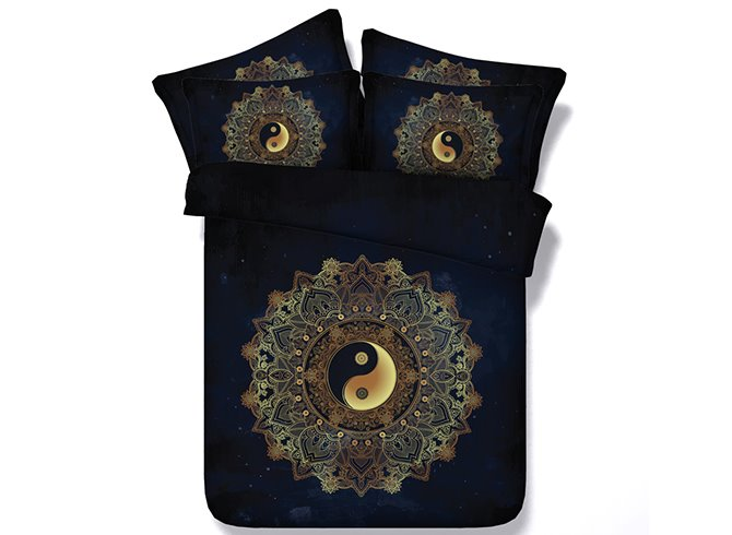 Mysterious Tai Chi Icon Digital Printing 4-Piece Duvet Cover Sets
