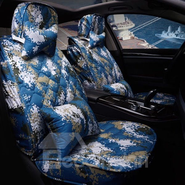 Most Popular Navy Blue Camouflage Graffiti Universal Car Seat Cover