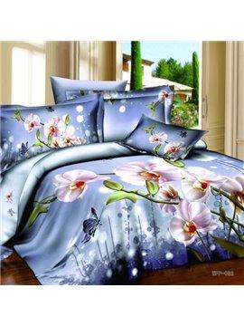 Amazing Phalaenopsis Light Purple 2-Piece Pillow Cases