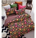 Superb Quality Floral 4-Piece Polyester Duvet Cover Sets