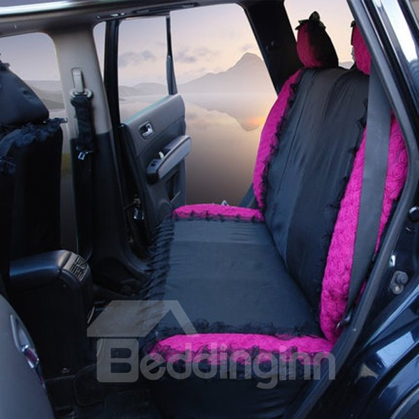 Royal Style Purple Themed With Laces Universal Fit Car Seat Cover