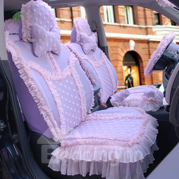 Charming And Magic Attractive Purple Color Universal Five Car Seat Cover