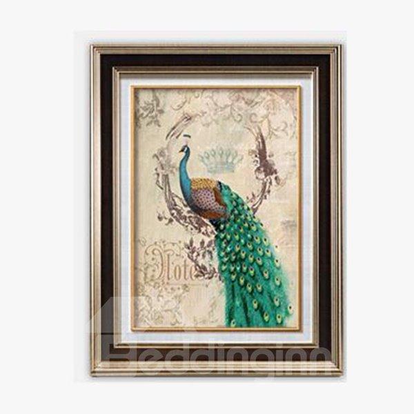 Simple European Style Modern Peacock Wall Art Prints