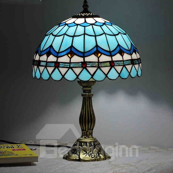 Creative Warm Blue Mediterranean Style Table Lamp