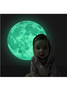 Creative Glowing Earth and Moon Luminous Planet Wall Sticker