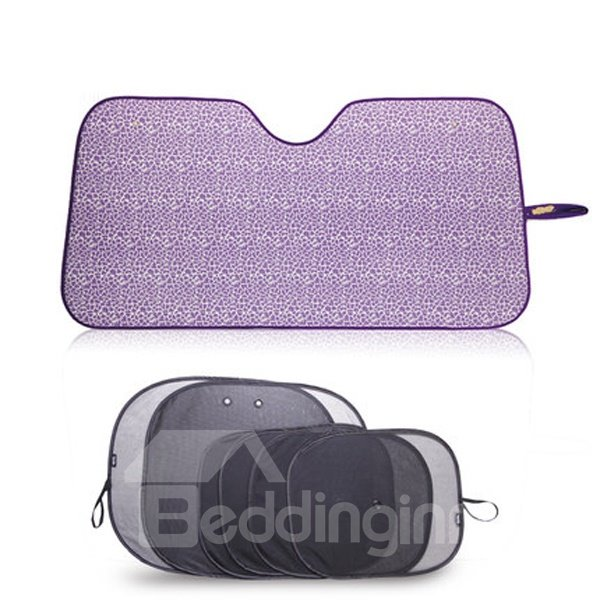 Fascination Purple Color And Charming Universal Car Sun Shades